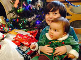 Emmett and Eloise share Christmas!!!