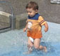 Emmett Splashing In The Pier 6 Water Playground!!!